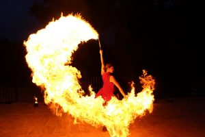 Fire show at Furnley House 2018 Summer Ball